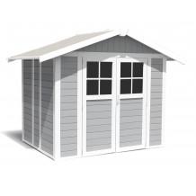 Abrigo de jardim Déco 4,9 m² cinza claro