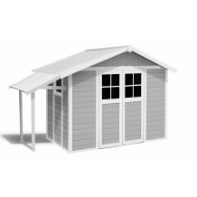 Abri de jardin Lodge 7,5 m² gris clair