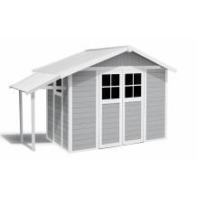 Abrigo de jardim Lodge 7,5 m² cinza claro