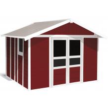 Abrigo de jardim Basic Home 11 m² Vermelho