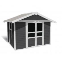 Abrigo de jardim Basic Home 7,5 m² Cinzento escuro