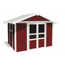 Abrigo de jardim Basic Home 7,5 m² Vermelho