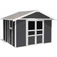 Abrigo de jardim Basic Home 11 m² Cinzento escuro