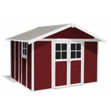 Abrigo de jardim Déco 11 m² Vermelho