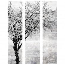 Quadro decorativo árvore preto & branco