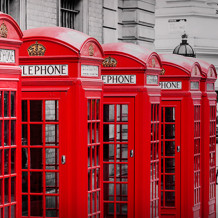 Parede decorativa Element 3D London phone