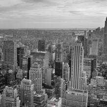 Parede decorativa Element 3D New York B&W