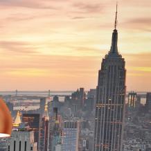 Parede decorativa Element 3D New York colors