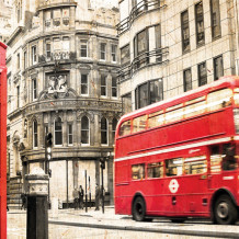 Mur décoratif Element 3D London bus