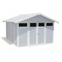 Abrigo de jardim Utility 11 m² cinzento - azul