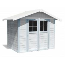 Abrigo de jardim Déco 4,9 m² cinzento - azul