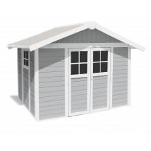 Abrigo de jardim Déco 7,5 m² cinza claro