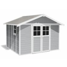 Abrigo de jardim Déco 11 m² cinza claro
