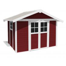 Abrigo de jardim Déco 7,5 m² PMMA vermelho